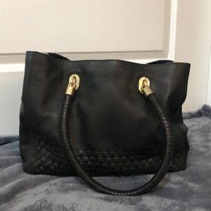 Cole Haan woven leather shoulder bag